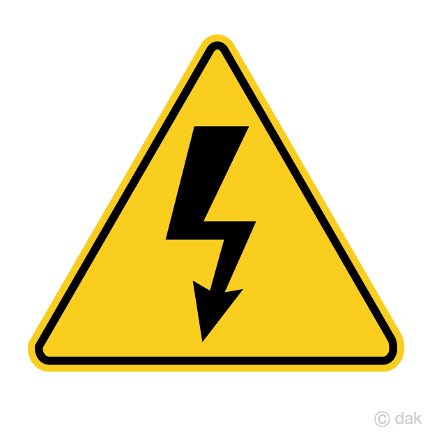 Electric Shock Danger Sign Free Picture|Illustoon.