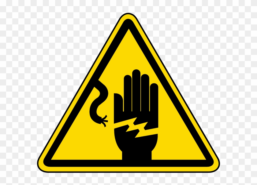 Graphic Royalty Free Electrical Shock Warning Label.