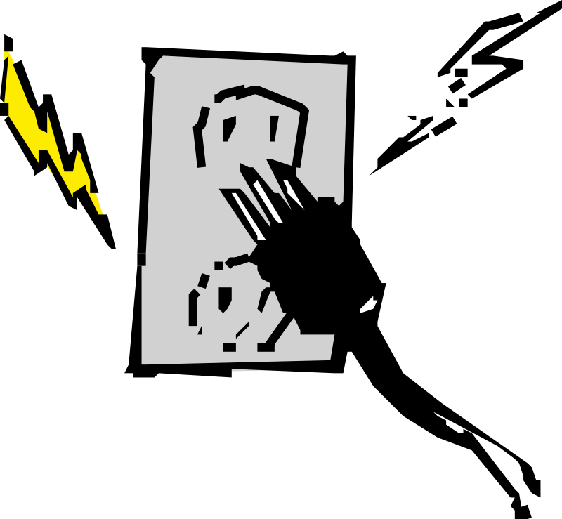 Free Clipart: Electrical outlet and plug.
