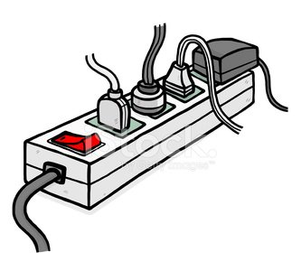 Many Plugs and Electric Socket premium clipart.