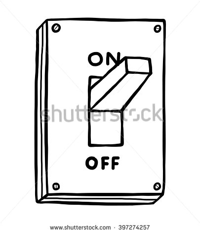 Electrical switch clipart.