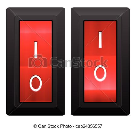 Clipart Vector of electric switch.