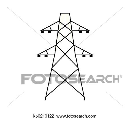 Electric tower Clipart.