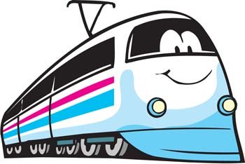 Free Electric Train Clipart and Vector Graphics.