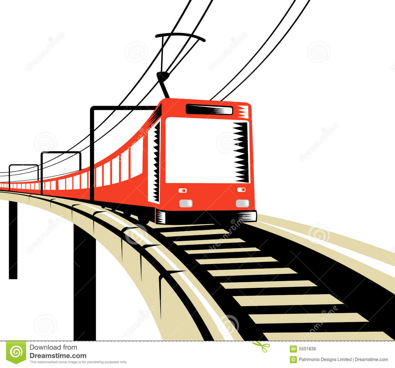 Electric Train stock vector. Illustration of traveling.
