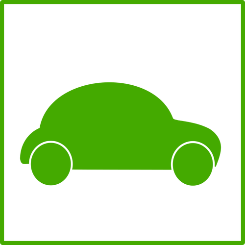 Electric car icon vector clip art.