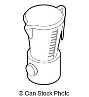 Clip Art Vector of kitchen blender machine.
