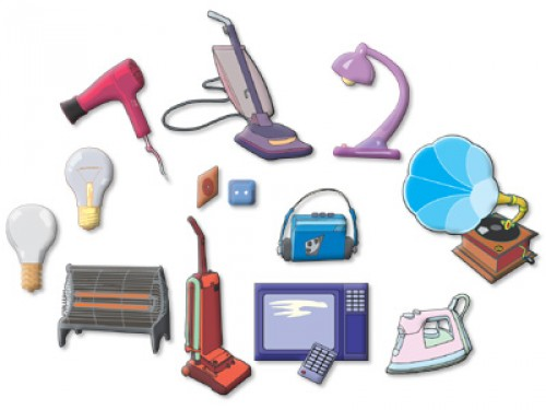 Electrical appliances clipart.