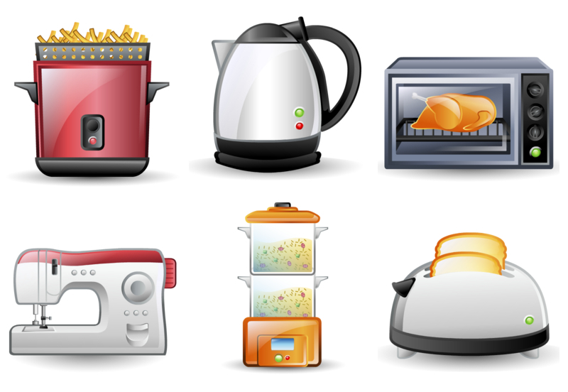 Kitchen Appliances Clip Art ~ Electrical appliances clipart clipground