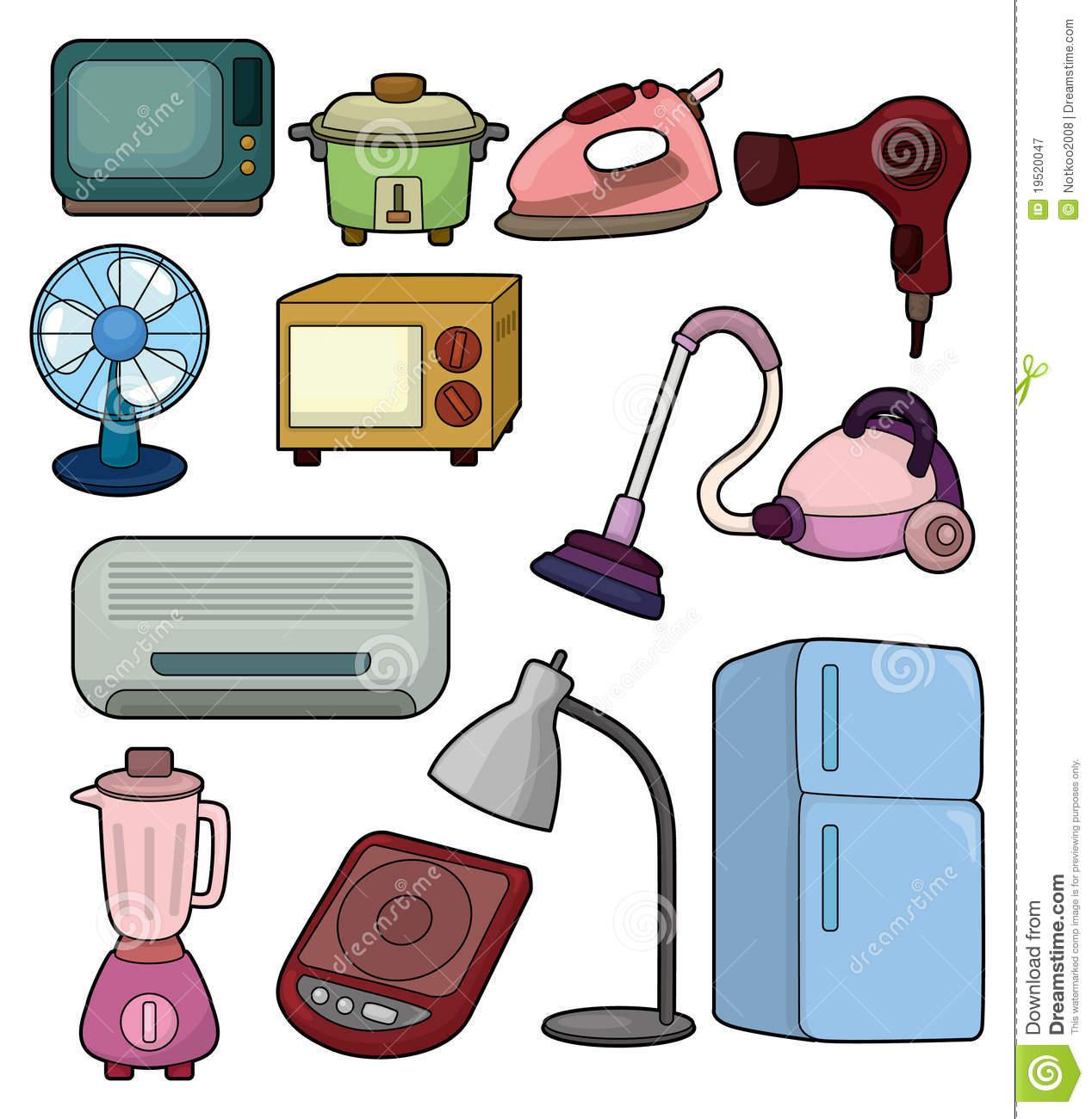 Electrical appliances clipart.