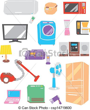 Electric Appliance Vector Clipart EPS Images 11898