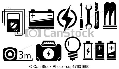 Electrical Vector Clipart EPS Images 49564 Clip Art