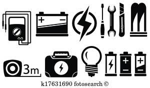Electrical Clip Art Vectors.