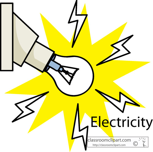 Electrical energy clipart.