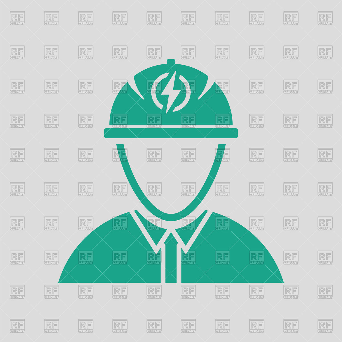 Electrical engineer icon Stock Vector Image.