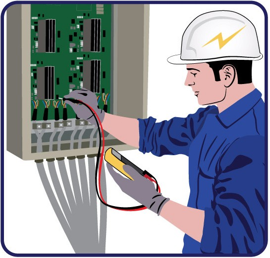 Electrical job clipart.
