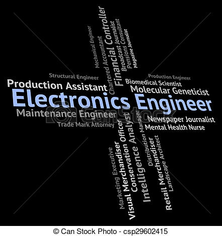 Clipart of Electronics Engineer Means Electrical Occupations And.