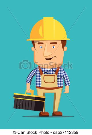 Clipart Vector of Electrical maintenance technician worker human.