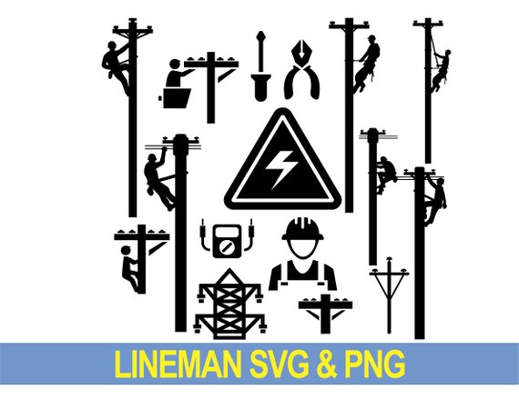 Lineman svg electrician svg electrical svg power lineman svg.