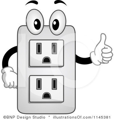 Socket and plug clipart.