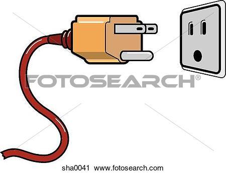 Clipart of Electrical plug sha0041.