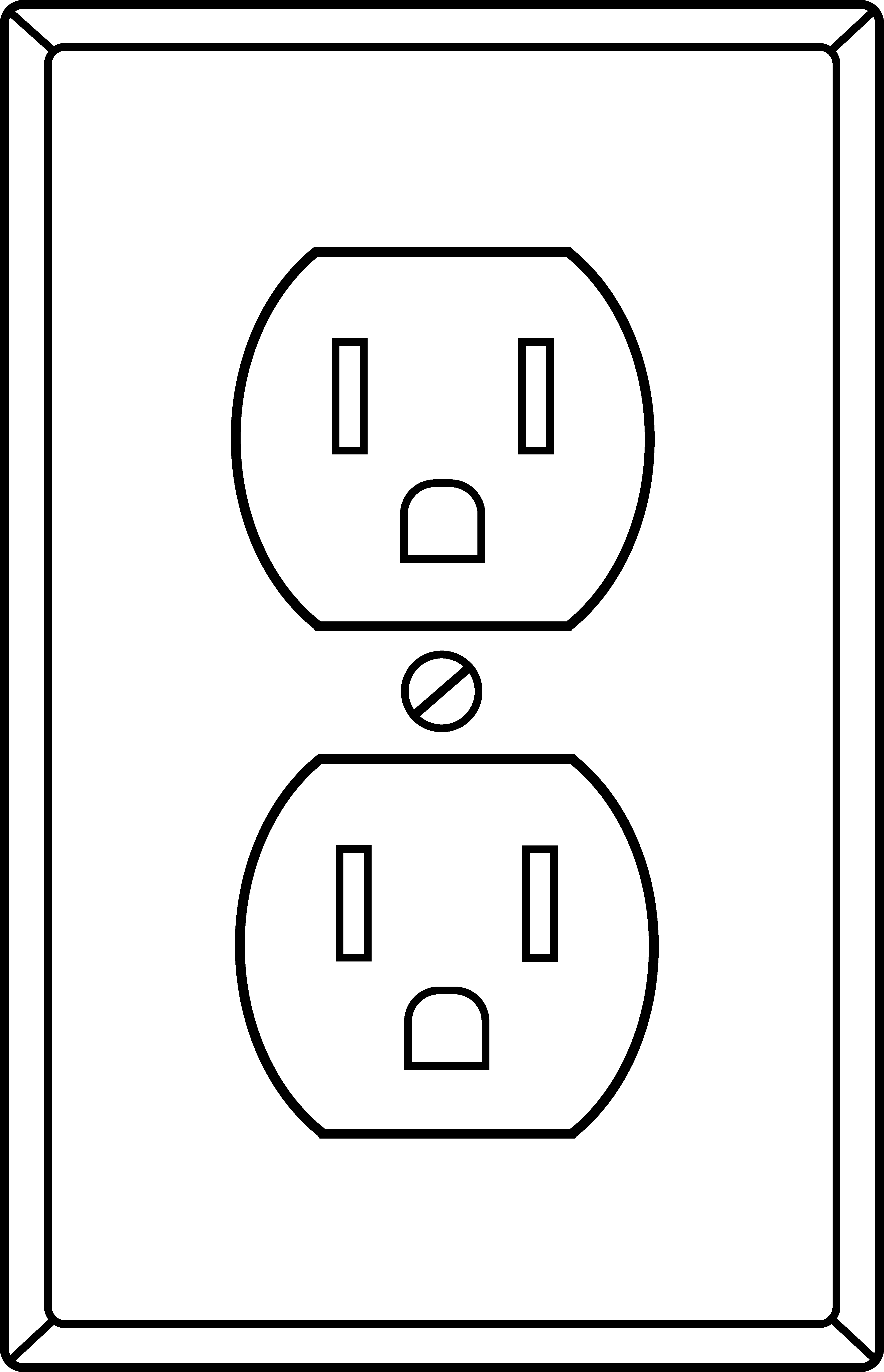 Electrical outlet clipart.