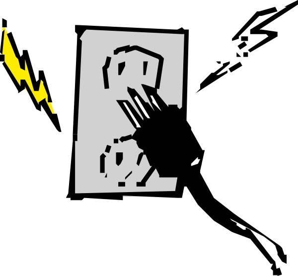 Electrical Outlet And Plug clip art Free vector in Open office.