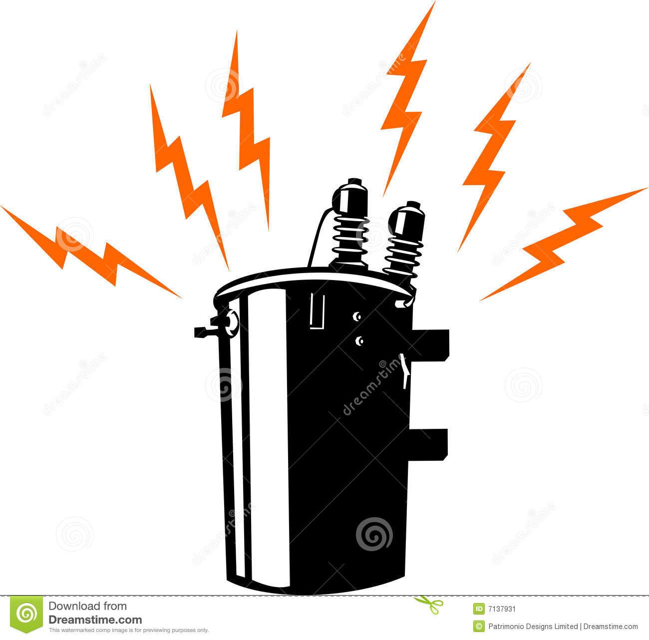 Power Transformer Stock Illustrations.