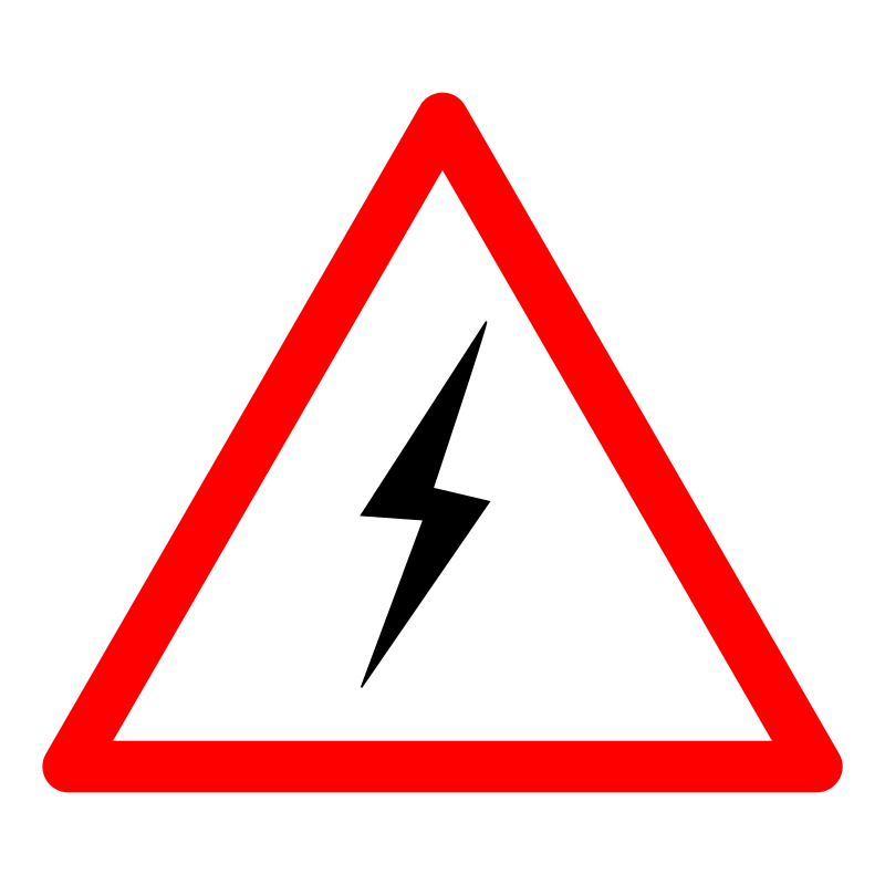 Electrical Warning Sign Clipart.