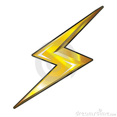 Electrical Power Danger Icon. Stock Vector.