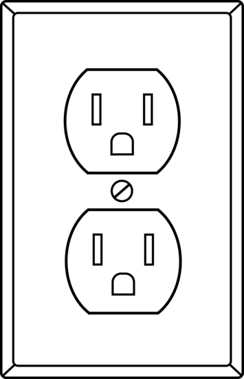 Electrical Socket Outline.