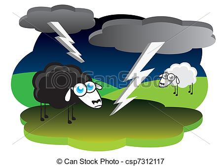 Lightning Storm Clip Art Vector And Illustration 5122