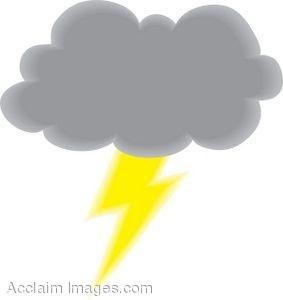 Rain Storm Animated Clipart.