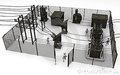 Substation Stock Illustrations.
