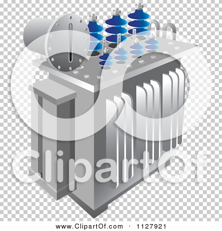 Clipart Of An Electrical Substation Transformer.