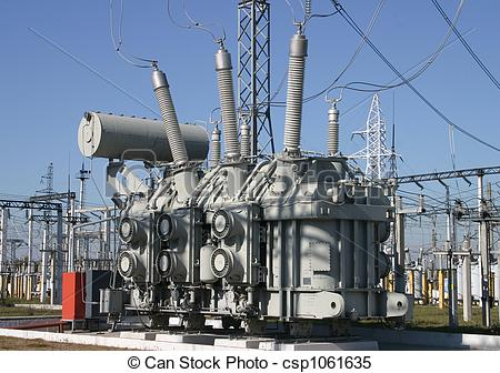 Stock Images of Electrical substation.