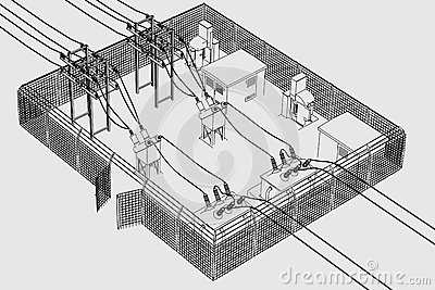 Electric Substation Clipart.