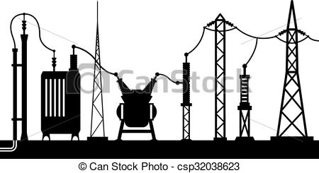 Electrical substation Vector Clipart EPS Images. 71 Electrical.