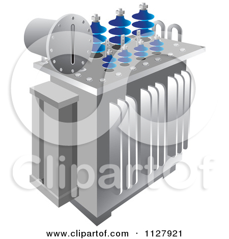 Clipart Of An Electrical Substation Transformer Icon.