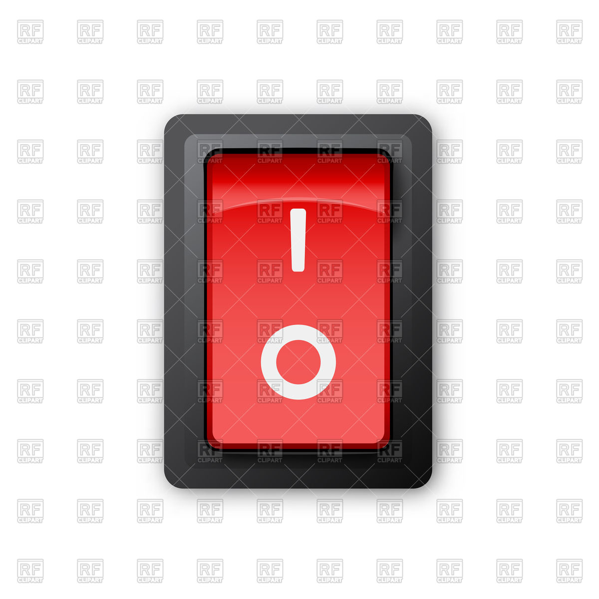 Red electric switch Stock Vector Image.