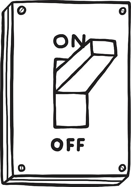 Royalty Free Drawing Of A On Off Switch Cl #196590.