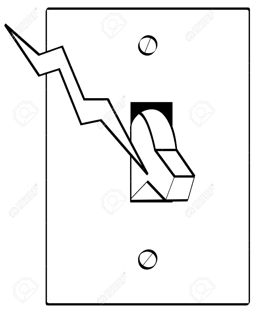 light switch electrical symbol sketch coloring page