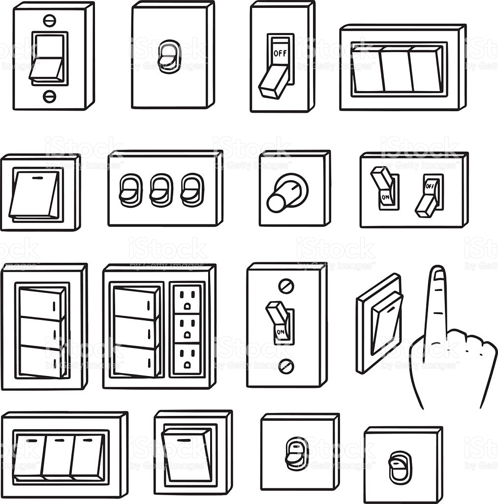 Vector Set Of Electric Switch stock vector art 501334864.