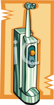 Electric toothbrush clipart.