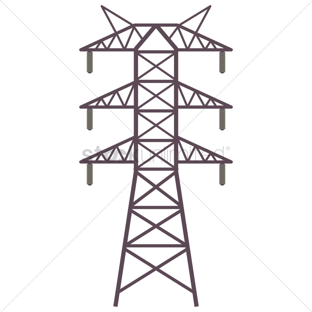 Electric tower Vector Image.