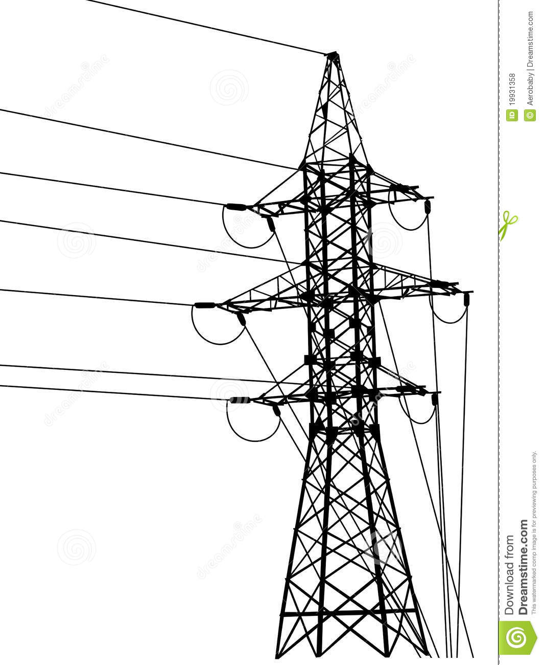 Electrical tower clipart #17