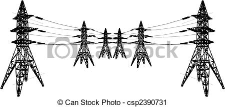Vector Clip Art of Electrical tower.