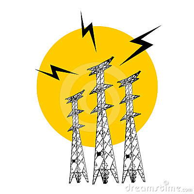 Electric Tower Royalty Free Stock Photos.