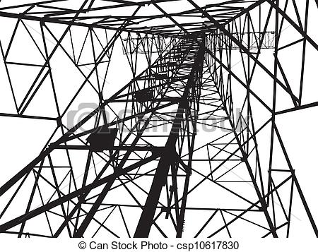 Vectors of Abstract Electrical tower illustration csp10617830.