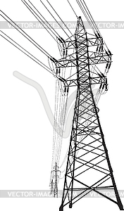 High voltage clip art.